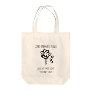 long-stemmed roses Tote bags