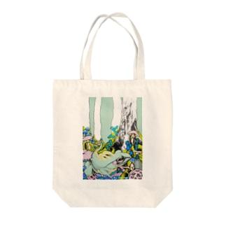 カエルちゃん Tote bags