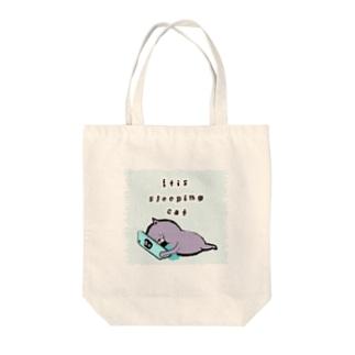 寝落ち猫(pr) Tote bags