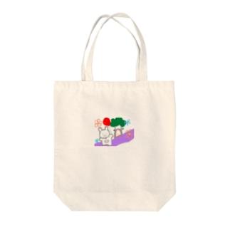 くまちゃんのおさんぽ Tote bags