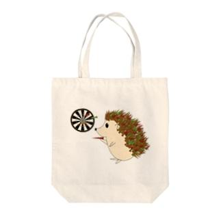 ハリネズミのダーツ Tote bags