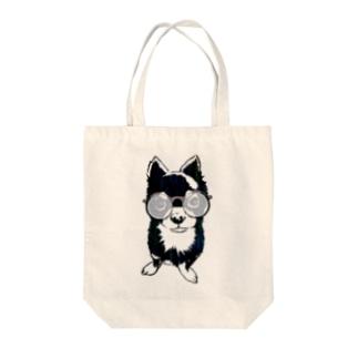 メガネチワワ Tote bags