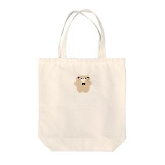 ぺたんこくまさん Tote bags