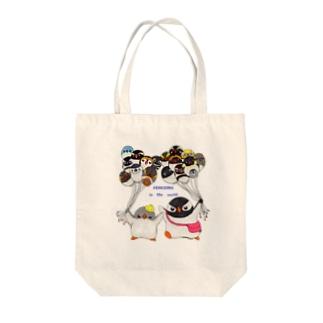 プピ兄弟と世界のペンギンバルーン Tote bags