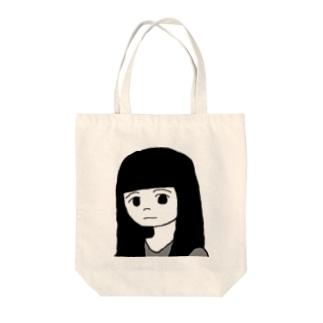 ロングヘアーめる Tote bags