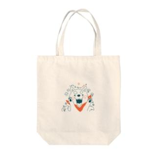 ポチとお散歩 Tote bags