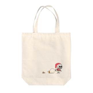 クリスマスのホネホネくん Tote bags