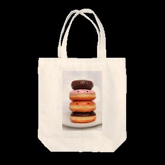 3pondSのかおかし・ドーナッツ Tote bags