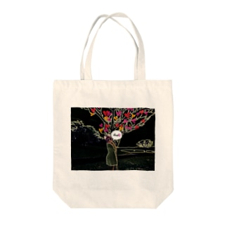 cocoニャンコ×ラヴtree Tote bags