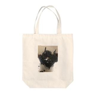 ジャングルベジタブル(炭) Tote bags