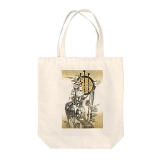 狐の白巫士の円舞 Tote bags