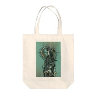 翡翠の空が花月を遵えて Tote bags
