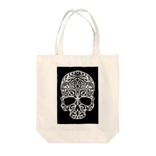 アールヌーボースカル Tote bags