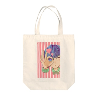 のぞいてみる?(ピンク) Tote bags