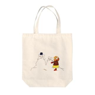 雪だるま Tote bags