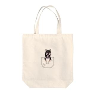 サンプル=あなたのペットちゃんinポケット Tote bags
