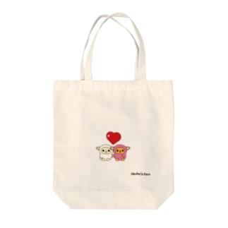 ひつじのペコラ・ポコラ(ハート) Tote bags
