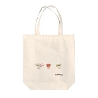 ひつじのペコラ・ポコラ(HAPPY) Tote bags