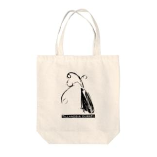 チランジア・ドーラティ モノトーングラフィック Tote bags