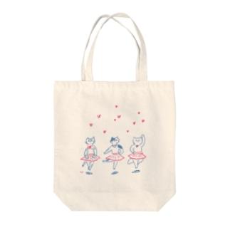 バレリーナネコ Tote bags
