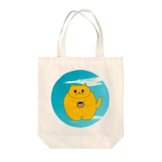 猫ベイ Tote bags
