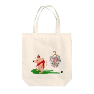 ハリネズミ Tote bags