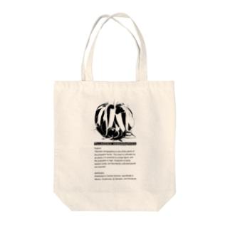 キセログラフィカ ディスクリプション モノトーングラフィック Tote bags