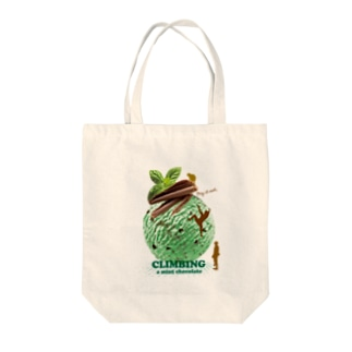 Climbing mint chocolate Tote bags