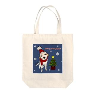 クリスマスラブラドールレトリーバー トートバッグ