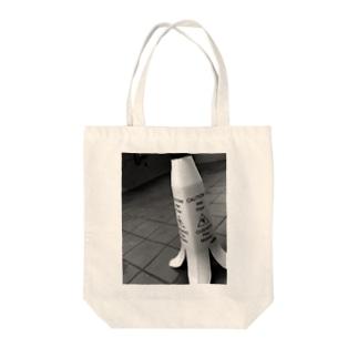便所滑り警告バナナ Tote bags