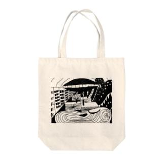 耳鳴り Tote bags