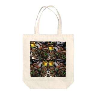 グリーンアート Tote bags