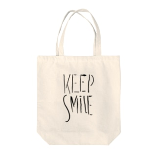 KEEP SMILE Tote bags