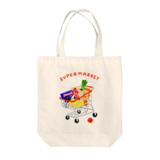 スーパーマーケット(カート) Tote bags