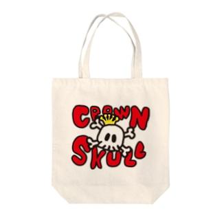 CROWN SKULL Tote bags