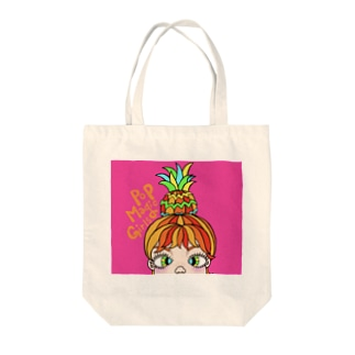 Pineapple girl🍍 Tote bags