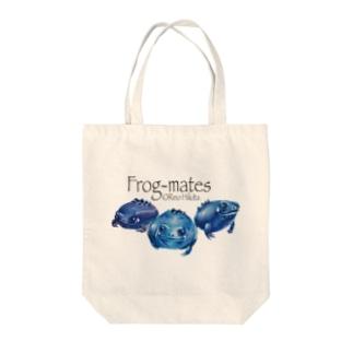 カエルメイト(Frog-mates)より「ブルベリガエル」のグッズ Tote bags