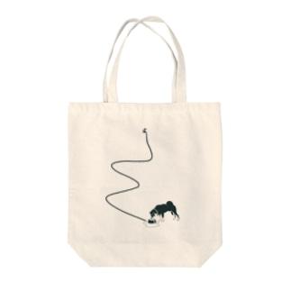 クロ柴さん Tote bags