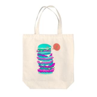 モノタベ!/ハンバーガーM Tote bags