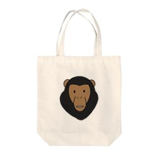 チンパンジー Tote bags