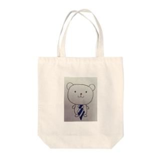 ネクタイくまさん Tote bags