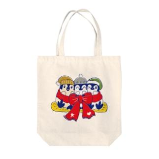 りぼんぺんぎん Tote bags