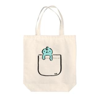 オバ吉くんニセポケ Tote bags