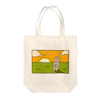 感傷に浸る猫ちゃん Tote bags