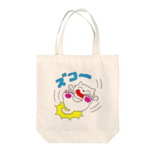 ズコー!ねこ Tote bags