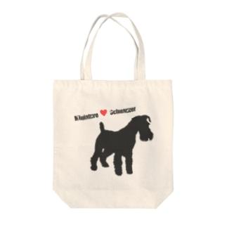 M♥シュナ Tote bags