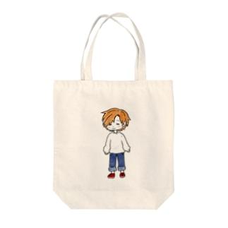 糸目のほのぼのさん Tote bags