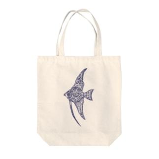天使魚 Tote bags