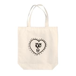 Heart boy Tote bags