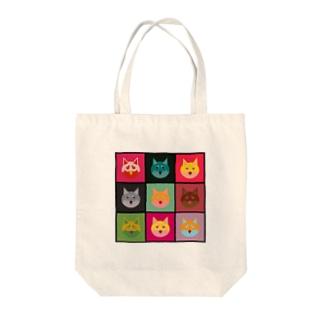 柴犬×アンディ・ウォーホル Tote bags